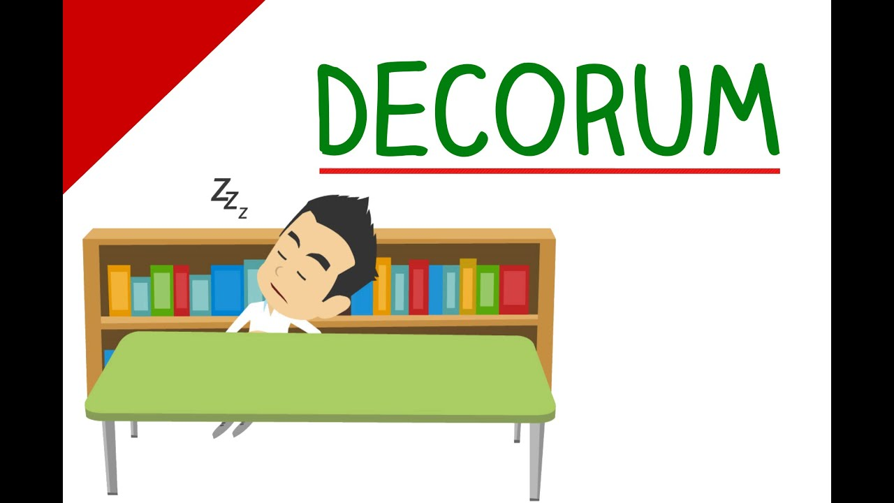 Learn english words decorum animated videos that make for Decorum meaning