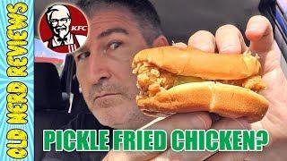 KFC Pickle Fried Chicken Sandwich REVIEW 🥒🐔🍔