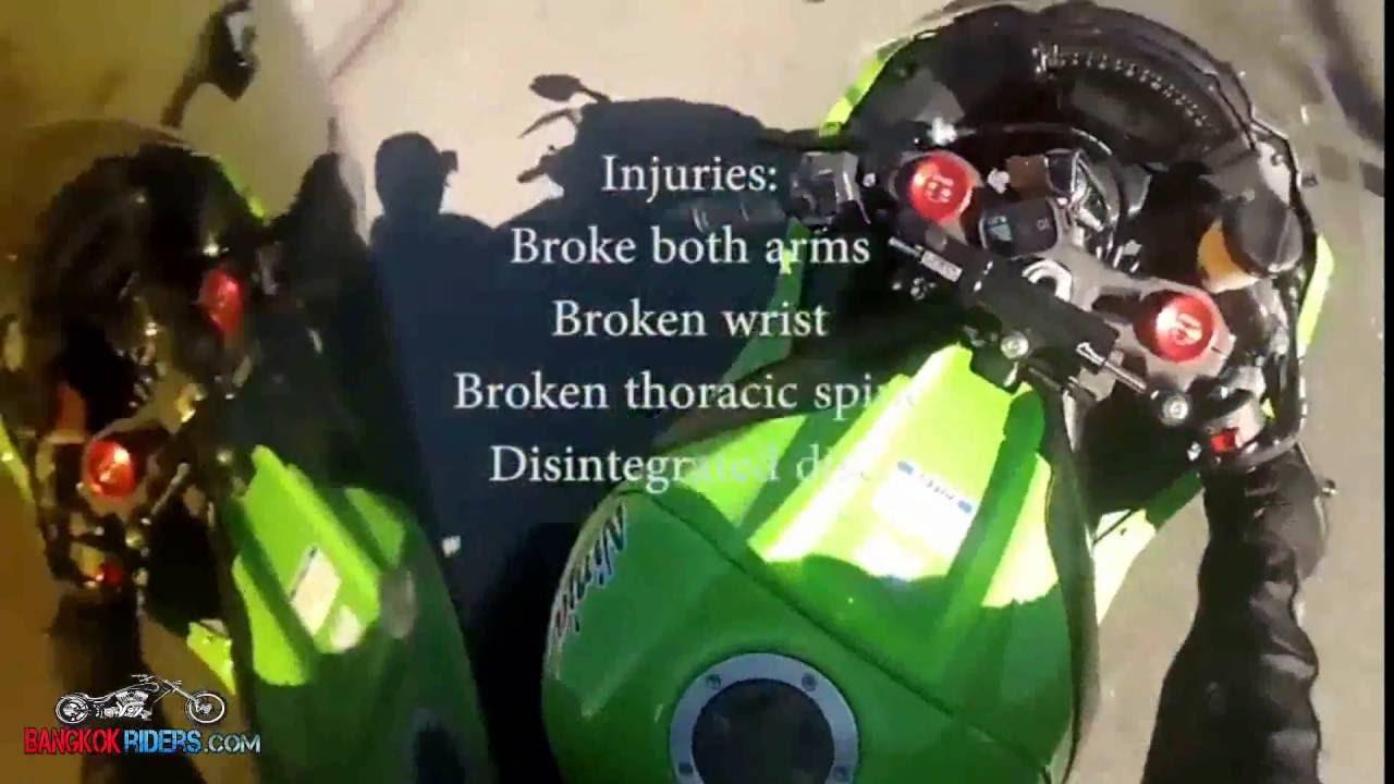 Kawasaki Zx10r Accident Bangkok Rider Youtube