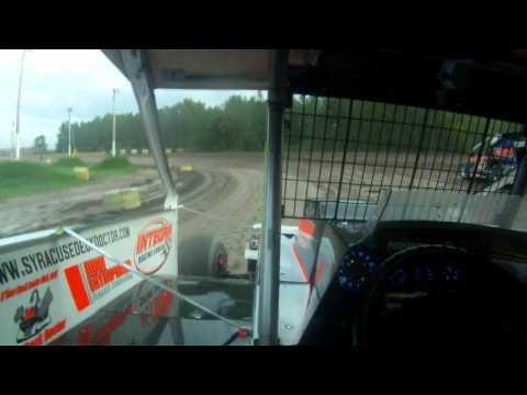 5H Chris Hile - 8-17-11 - Utica Rome Speedway Heat Race.avi