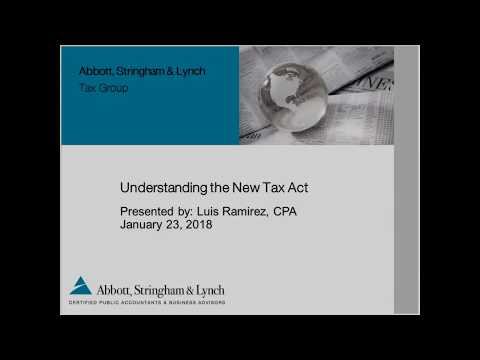 Understand New Tax Act   Personal Tax Changes   San Jose CPA