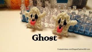 Rainbow Loom Ghost emoji/emoticon charm - How to