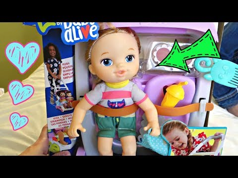NEW! Baby Alive Littles! Push And Kick Stroller And Carry N Go | Mommy Etc