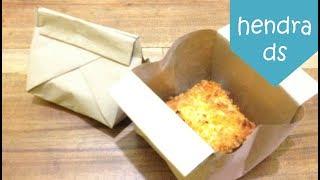 Cara Melipat Kertas Bungkus atau Cara Membungkus Makanan Mudah