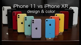iPhone 11 vs iPhone XR  design & color Review