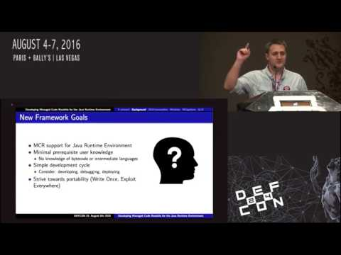 DEF CON 24 - Benjamin Holland - Developing Managed Code Rootkits for JRE Mp3