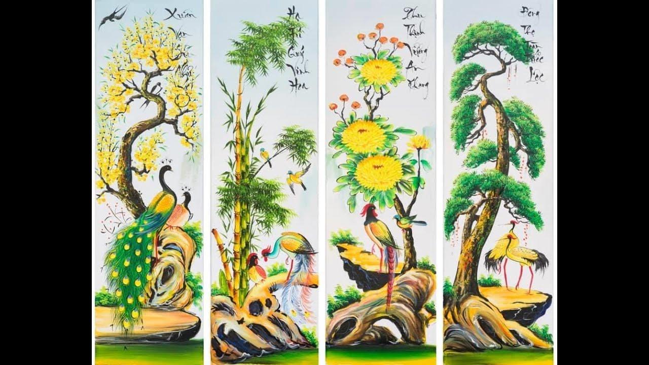Vẽ tranh tĩnh vật, tranh bộ treo tường – P3