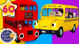Bus Song | Different Types of Buses + More Nursery Rhymes & Kids Songs | Learn with Little Baby Bum