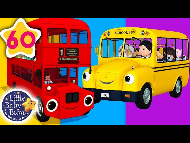Bus Song | Different Types of Buses + More Nursery Rhymes & Kids Songs | Little Baby Bum