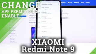 How to Enable App Permissions in XIAOMI Redmi Note 9 – Find App Permissions Section