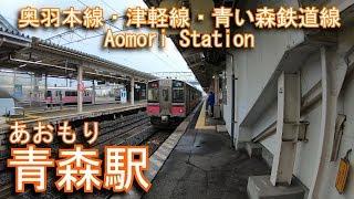 奥羽本線・津軽線・青い森鉄道線 青森駅を探検してみた Aomori Station