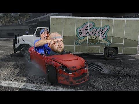 Uncle Larry and Joe try GTA V...but still stink.
