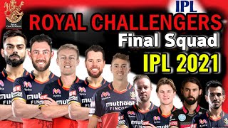 Vivo IPL 2021 Royal Chellengers Bangalore Full Squad | RCB Final Squad 2021 | RCB Players List 2021