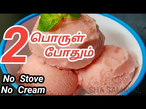 வெயிலுக்கு இரண்டே பொருட்களில் ஈஸியா ஐஸ்கிரீம் செய்யலாம் | 2 Ingredients Homemade Ice cream in Tamil!