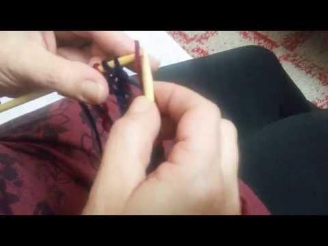 Πλέξη brioche με δύο χρώματα ή εγγλέζικο λάστιχο