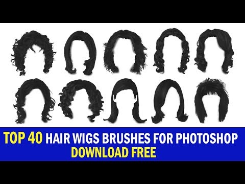 TOP 40 HAIR WIGS BRUSHES FOR PHOTOSHOP Vol#12 Download Free 2019
