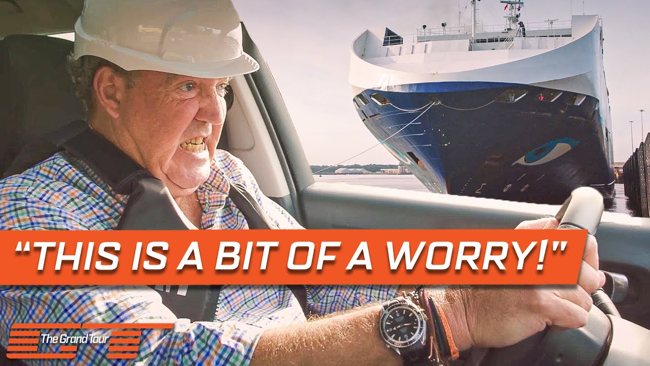 Clarkson Tries to Tow a 13,000 Tonne Freight Ship with a Citroën C3 | The Grand Tour