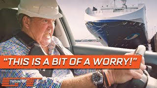 Clarkson Tries to Tow a 13,000 Tonne Freight Ship with a Citroën C3   The Grand Tour