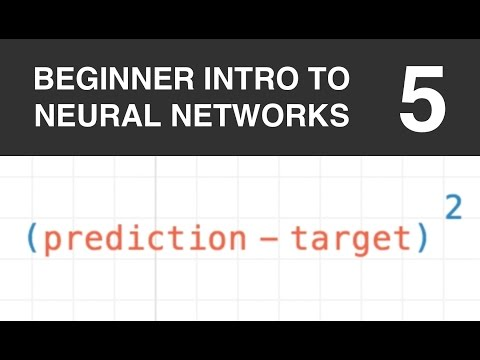 Beginner Intro to Neural Networks 5: Squared Error Cost Function