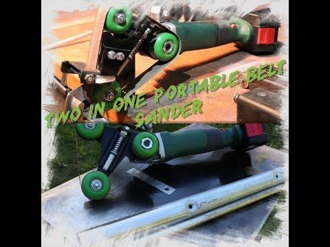 Angle grinder hack: Two in one belt sander