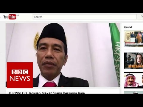 Joko Widodo vlogs lunch with Saudi King - BBC News