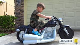 Senya Pretend Play with Kids Bike Harley-Davidson Unboxing Power Wheel Mini Bike