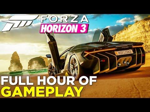 Watch an hour of Forza Horizon 3 gameplay