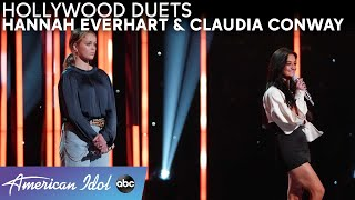 Teamwork! Katy Perry Urges Claudia Conway & Hannah Everhart To Work TOGETHER! - American Idol 2021