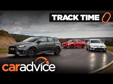 Comparison: Ford Focus RS v Subaru WRX STI v Volkswagen Golf R Track Test | CarAdvice