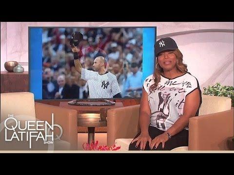 Queen Latifah Tips Her Hat To Derek Jeter