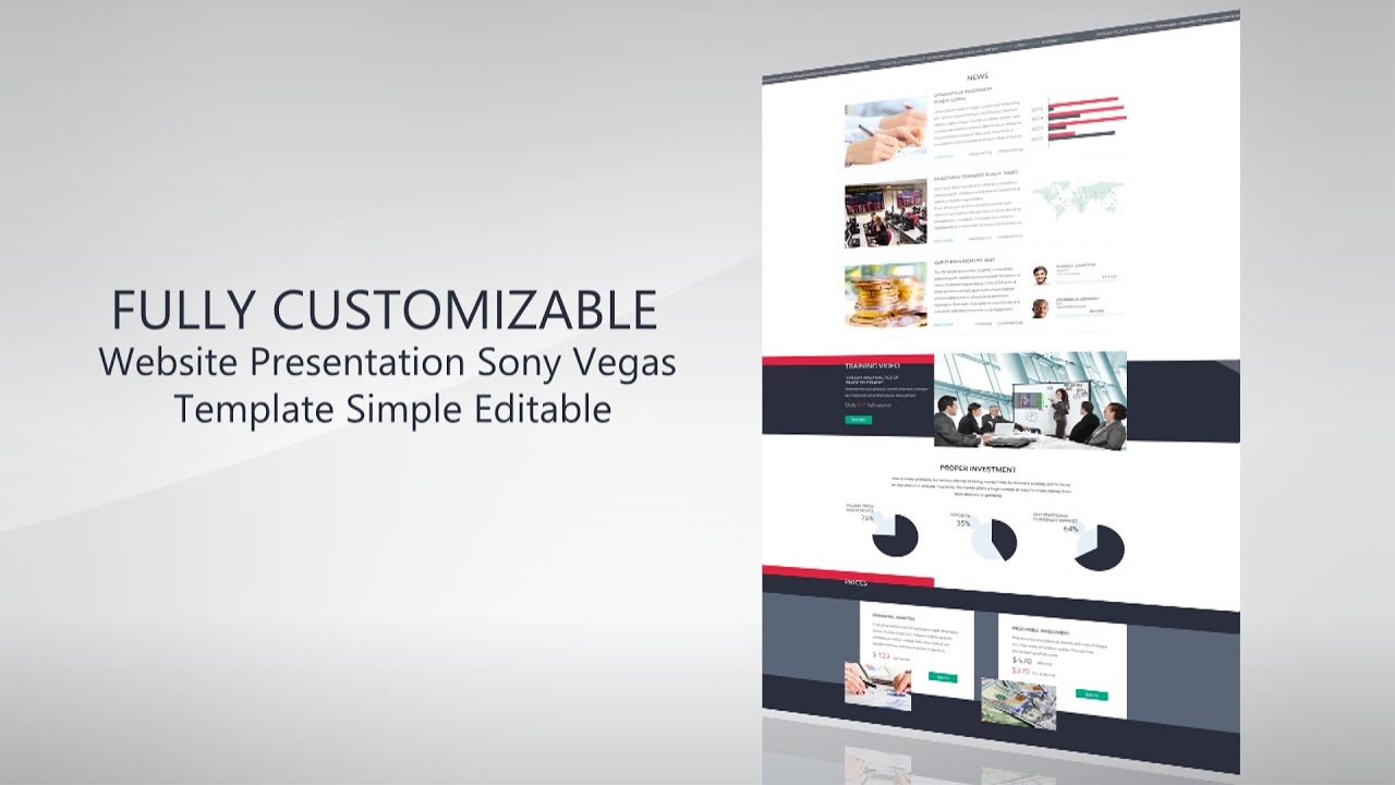 website presentation promo template sony vegas 12 13 14 youtube