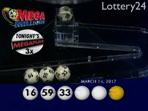 2017 03 14 Mega Millions Numbers and draw results
