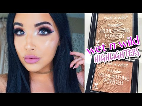 NEW Wet N Wild MegaGlo Highlighters Review & Comparison Swatches | AMANDA ENSING 2016