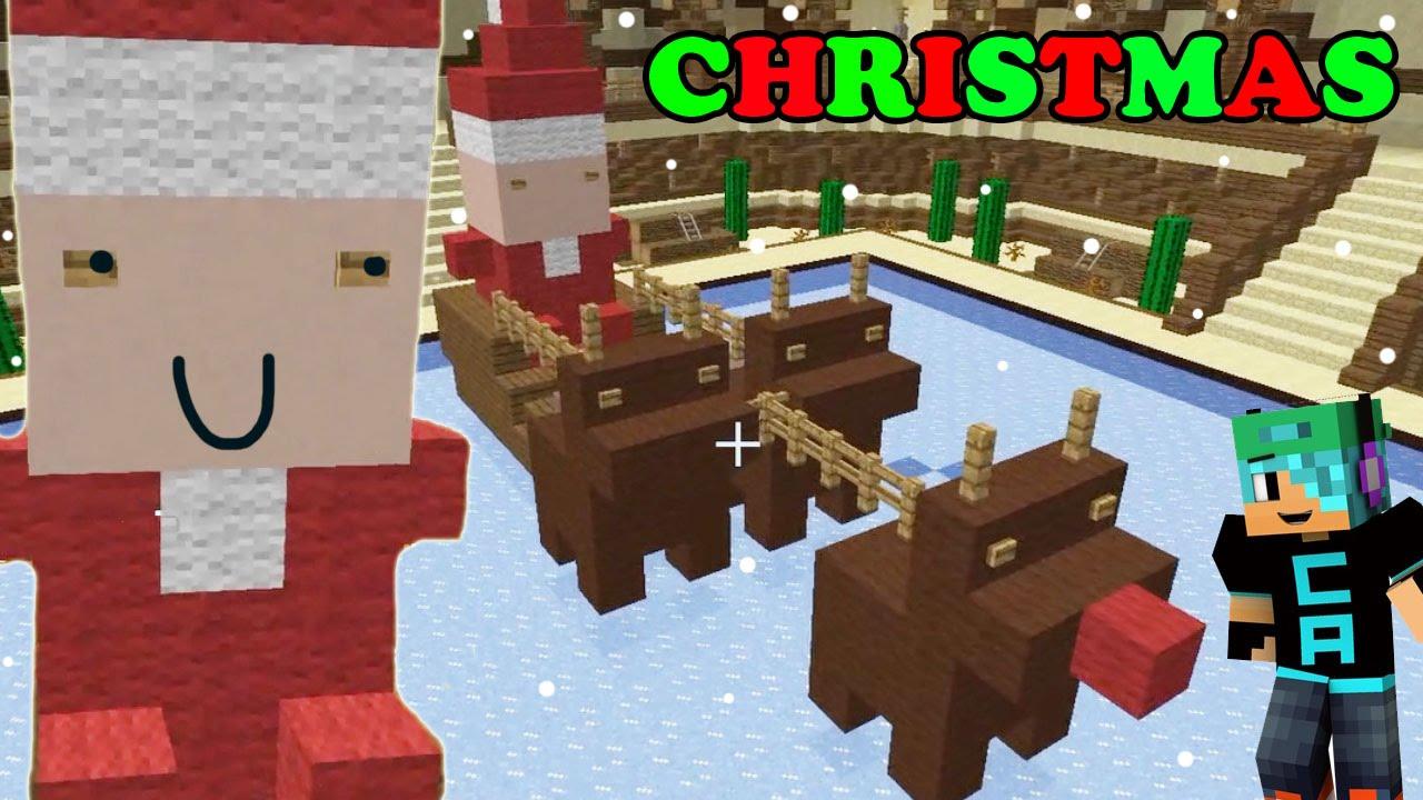 Christmas Minecraft Santa.Minecraft Sunday Ep 4 Master Builders Christmas Chibi Santa And Chubby Reindeer