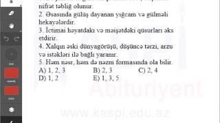 Kaspi Abituriyent - Sınaq imtahanı - 11-ci sinif - Ədəbiyyat 9