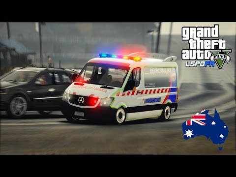 GTA 5 - Emergency 000 - Ambulance Victoria patrol out in the county (Agency Callouts 3.0) #OZGTA