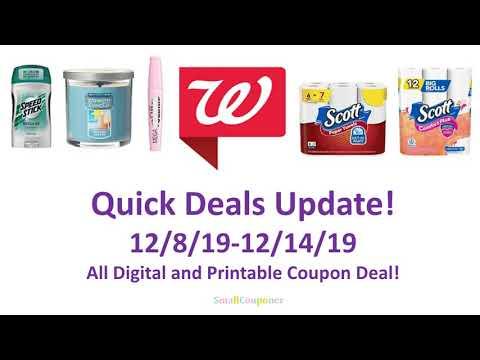 Walgreens Deals Update 12/8/19-12/14/19! All Digital and Printable Coupon Deals!