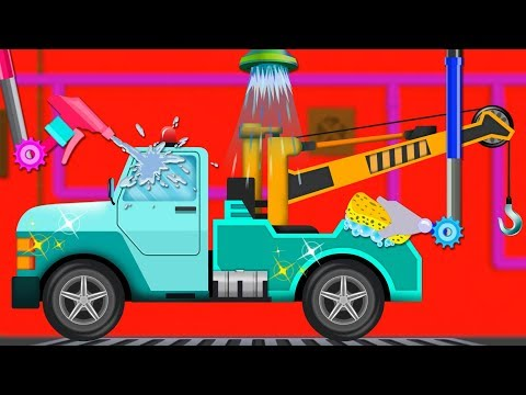 Tow Truck Car Wash - Cartoon Video For Toddlers - New Babies Show by Kids Channel - 동영상