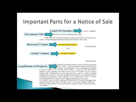 Power of Sale Process in Ontario Overview