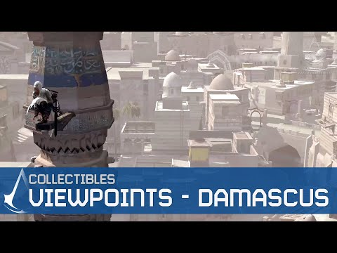 Assassin's Creed - Side Memories - All View Points in Damascus