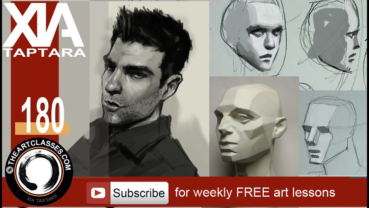 how to draw face shading and planes part 3 of 3 youtube