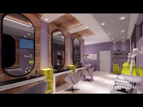 High Class hair Salon Interior - Juba,3D Presentation