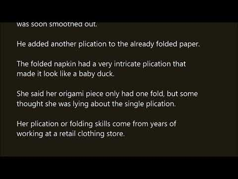 another word for folded
