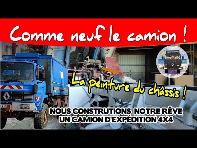 #85- Aménager un camion 4x4 en camping car off road ❗❗❗ -- Peinture d'un châssis poids lourd