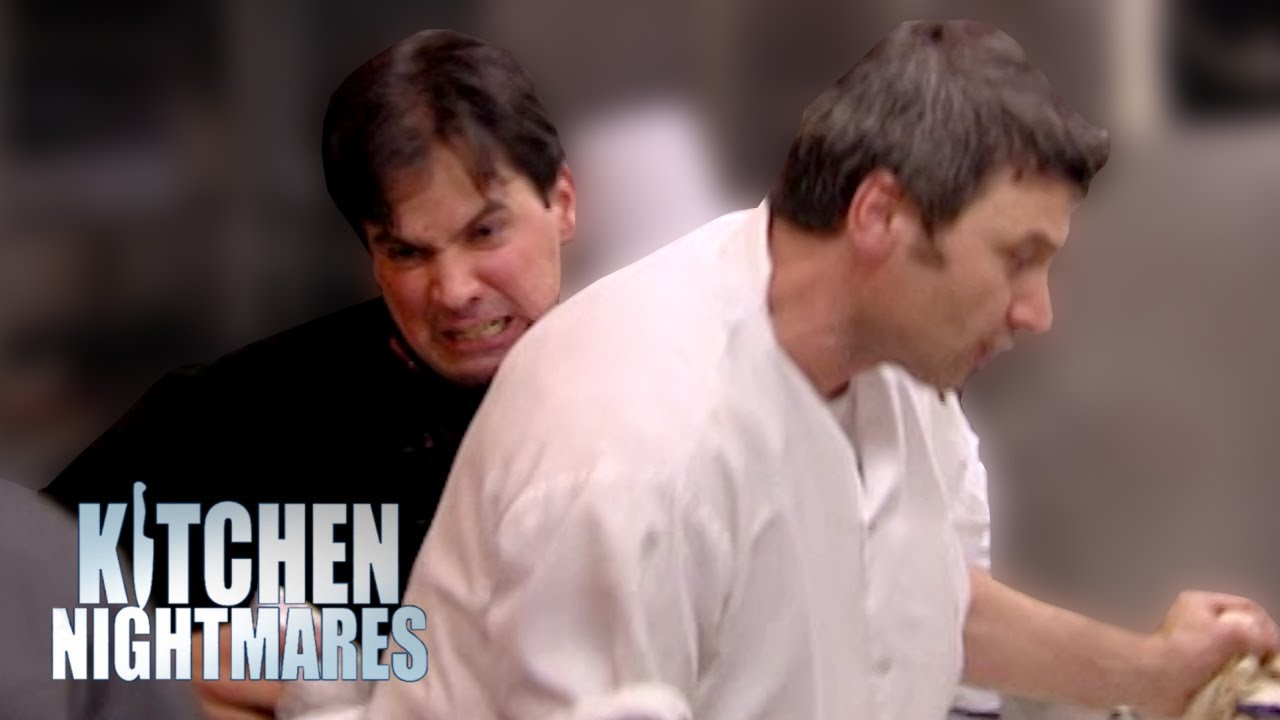 out of control owner attacks his own chef!   kitchen nightmares