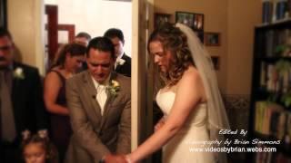 Irving & Carie Roman praying before their wedding