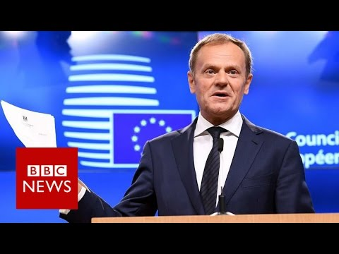 Article 50: 'We already miss you' - Donald Tusk - BBC News
