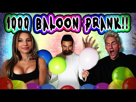 Thumbnail: FILLED HIS BATHROOM WITH 1,000 BALLOONS!!! ***PRANK WARS MARK VS GEORGE***