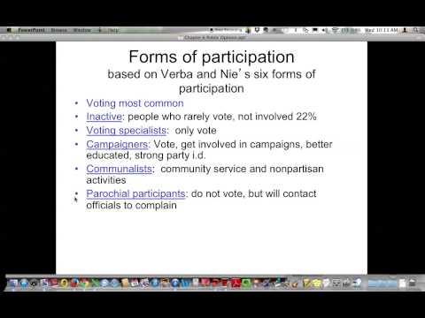 Political Participation and Voting
