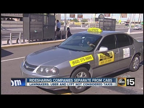 Ridesharing companies separate from cabs